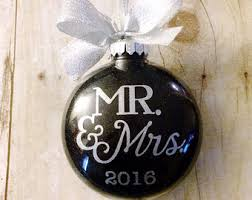 christmas ornaments wedding gifts engagement by peartreepersonal