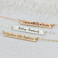 kids name necklace personalized bar kids name necklace wickedly mod