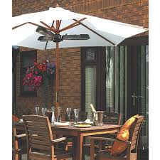 halogen patio heaters la hacienda parasol 2000w halogen patio heater p21742 36333 zoom