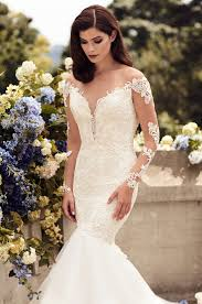55 Long Sleeve Wedding Dresses by Fitted Two Tone Lace Wedding Dress Style 4728 Paloma Blanca