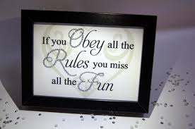 obey the rules fun sparkle word art pictures quotes sayings