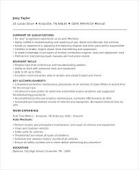 Maintenance Mechanic Resume Examples by Auto Mechanic Resume Sample Jennywashere Com