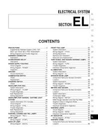 2001 nissan frontier electrical system section el pdf manual