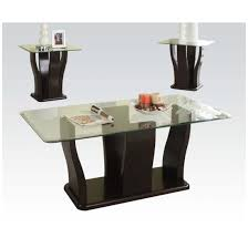 shaker 3 piece coffee end table set by acme furniture 18450 acme