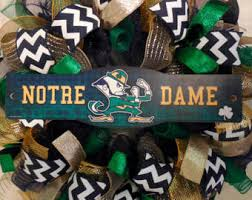 notre dame wrapping paper notre dame wreath etsy