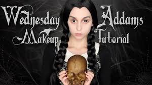Adam Family Halloween Costumes by Wednesday Addams Makeup Tutorial Halloween 2015 Youtube