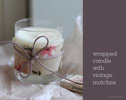 gift idea wrapped candle with vintage matches sania pell