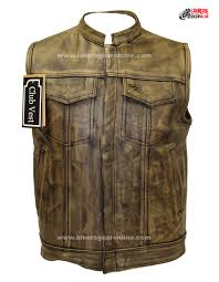 mens leather moto jacket men u0027s distressed brown leather motorcycle club vest bikers gear