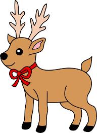 christmas deer christmas reindeer with ribbon free clip