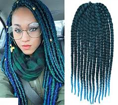 best hair for braid extensions amazon com off black to aqua two colors ombre crochet braid hair