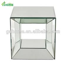 cube mirror side table cheap narrow mirrored cube side tables for home use buy movable
