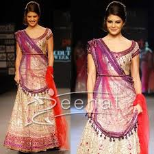 Different Ways Of Draping Dupatta On Lehenga Jacqueline Fernandez Blushes In Lehenga Choli Zeenat Style
