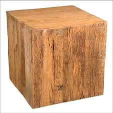wood cube end table old wood reclaimed railroad tie 24 cube pedestal end table cube end