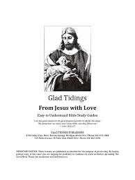 from jesus with love glad tidings bible study guides pdf