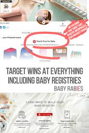 baby registries target wins at everything including baby registries baby rabies
