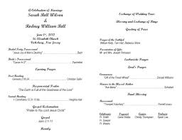 word template for wedding program 7 best images of wedding ceremony program template word catholic