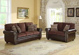 Best Paint Color For Bedroom With Dark Brown Furniture Homelegance Beckstead Sofa Set Chocolate Chenille And Dark Brown