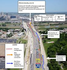Map Of Denton Texas Dallas Horseshoe Project To Affect Eastbound I 30 Traffic From