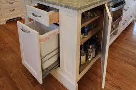 kitchen island with trash bin kitchen island garbage can transitional kitchen