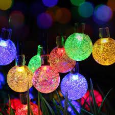 color changing solar string lights color changing solar crackle glass ball led light led solar