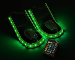 shoes with lights on the bottom light kicks led shoe light system thinkgeek