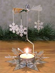 amazon com christmas tree candle holder spinning candle with
