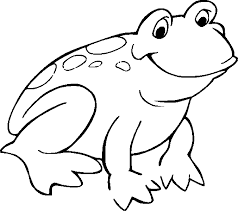 frog for kids coloring page free download