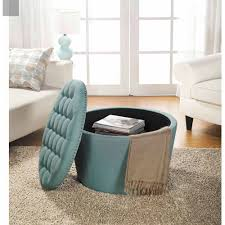large round leather ottoman large round storage coffee table storage designs