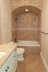 small bathrooms mediterranean style with travertine tile