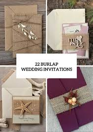 burlap wedding 22 burlap wedding invitation ideas weddingomania