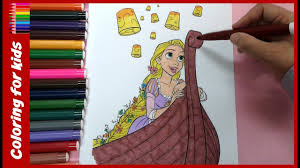colouring for children disney tangled rapunzel coloring pages