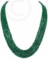 emerald gemstone necklace images Gemstones bead necklaces 5 rows of natural emerald gemstone jpg