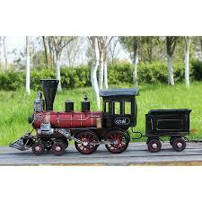 handmade steam locomotive model creative vintage metal craft