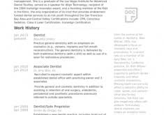 Dentist Resume Examples by All About Resume Example For Your Job Search Resume Example