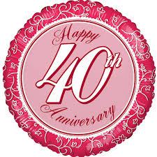 send a balloon in a box usa 40th anniversary balloon happy anniversary balloons delivered