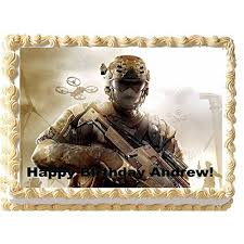 call of duty cake topper personalized edible call of duty cake topper call of duty cake