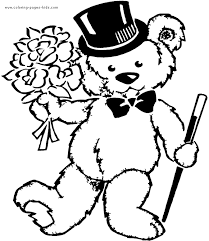 free coloring pages teddy bears happy teddy bear