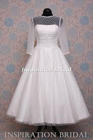 tea length wedding dresses uk 1587 uk knee tea length wedding dress polka dot white ivory
