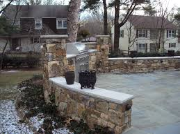 Backyard Grill Area by Gallery Old World Stone