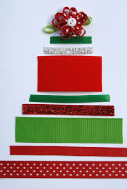 ribbon christmas tree craft advent day 17 tree crafts christmas