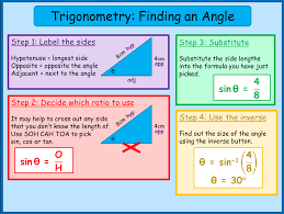 finding a missing angle in a right angled triangle mnm for students