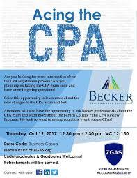 past event descriptions zicklin graduate accounting society