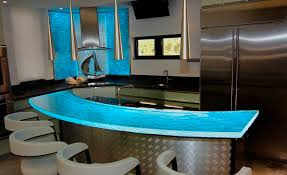 led backsplashes glass counter top for bar with led lighting at 42 inches height