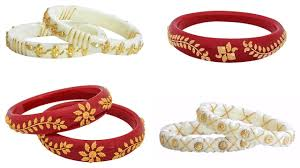 shakha pola bangles white gold shakha pola bengali bangles collection