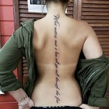 best 25 spine tattoos ideas on pinterest spine quote tattoos