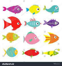 halloween fish tank background cute cartoon fish set isolated baby stock vector 422623429
