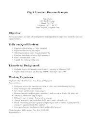flight attendant resume flight attendant resume templates air sle sles free