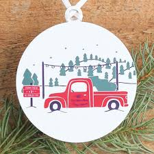 tree farm ornament north carolina holiday decor