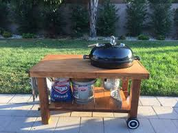 how to build a weber grill table weber kettle table diy bbq set regarding amazing weber grill table