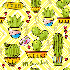 trend of cactus patterns bright seamless patterns for fabrics
